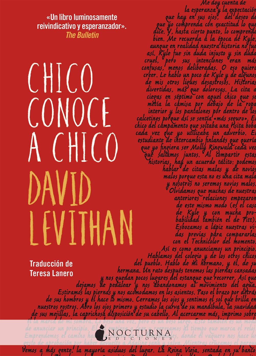 Resultado de imagen de Chico conoce a chico, David Levithan