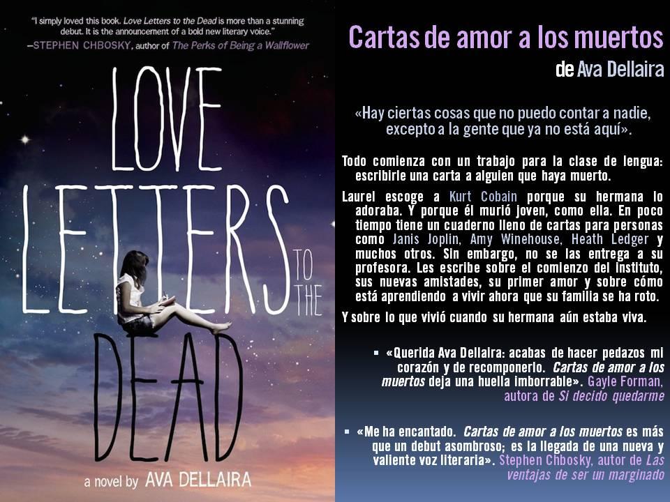 """En 2015: """"Cartas de amor a los muertos"""" (Ava Dellaira)"""