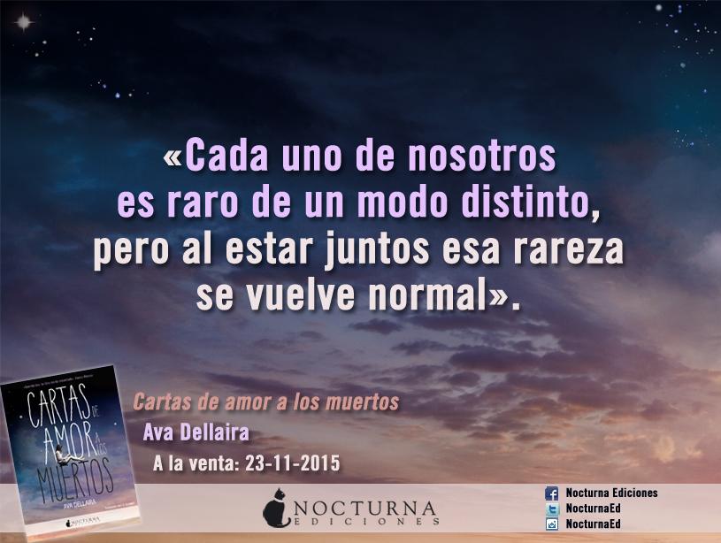 Cartas De Amor A Los Muertos Nocturna Ediciones